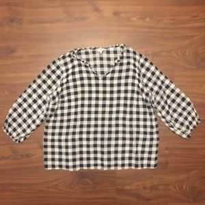 Crown & Ivy Womens Gingham Shirt PLUS SIZE 3X